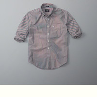 Patterned Cotton Poplin Shirt