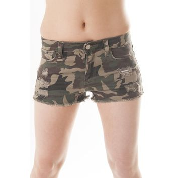 Buy Women's Camo Shorts, Sexy Camo Denim Shorts, Army Camouflage Shorts - DivaNY
