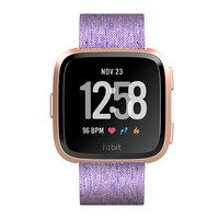 Rose Gold and Lavender Versa Smartwatch by Fitbit