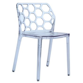 Honeycomb Dining Chair, Clear