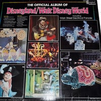1980 The Official Album of Disneyland / Walt Disney World Vintage Vinyl Childrens Record