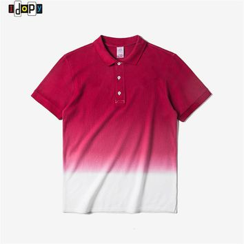 Summer Gradual Color Polo Shirts Fashion Street Style Hip Hop Casual Gradient Polos Shirts For Men and Women