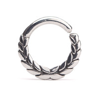 Leaves Crown Septum Ring Silver Nose Ring Body Jewelry Sterling Silver Bohemian Fashion Indian Style 14g 16g - SE025R SSO