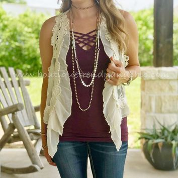 DOESN'T GET ANY BETTER LACE VEST