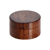 Rosewood Herb Grinder - Smooth Flat Surface - 2-part - 35mm wide
