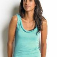 Sleeveless luxe tank