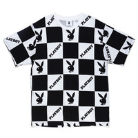 PLAYBOY CHECKERED TEE / BLACK