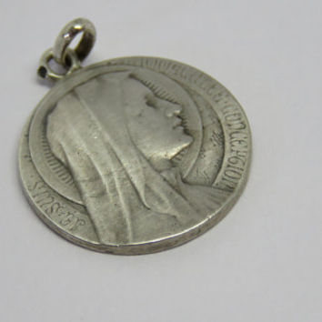 Antique French,  L. Tricard, Lourdes Medal, Je suis l'Immaculée Conception, SHIPPING INCLUDED