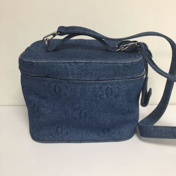 DCCKG2C Chanel Denim Train Case