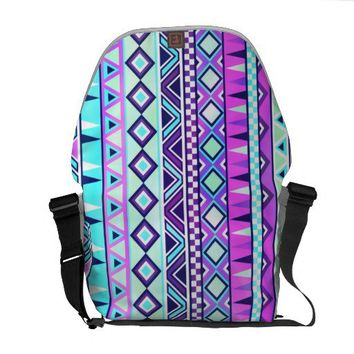 Aztec inspired pattern messenger bag from Zazzle.com