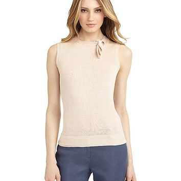 Sleevelees Tie Sweater - Brooks Brothers