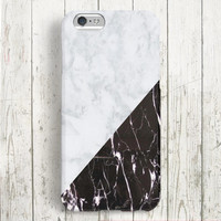 iPhone 6 Case, iPhone 6 Plus Case, iPhone 5S Case, iPhone 5 Case, iPhone 5C Case, iPhone 4S Case - Marble Black and White
