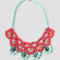 VERACRUZANA BEADED NECKLACE IN CORAL