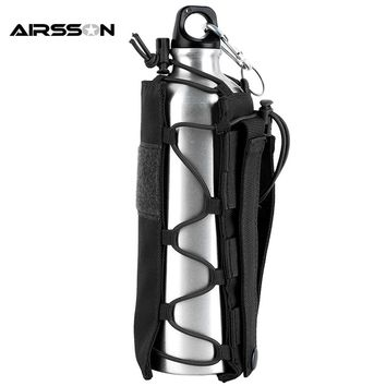 Tactical Molle Water Bottle Pouch 1050D Nylon Military Canteen Cover Holster Outdoor Hiking Camping Travel Kettle Bag 0.5L-2L