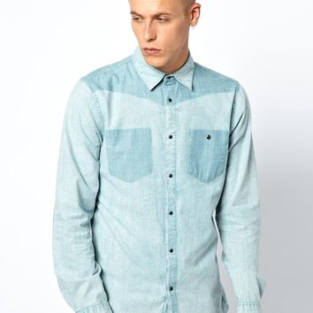 55DSL Chambray Shirt With Western Detail