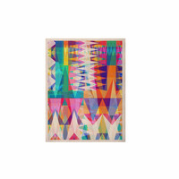 "Miranda Mol ""Triangle Collage"" Pastel Geometric KESS Naturals Canvas (Frame not Included)"