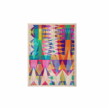 """Miranda Mol """"Triangle Collage"""" Pastel Geometric KESS Naturals Canvas (Frame not Included)"""