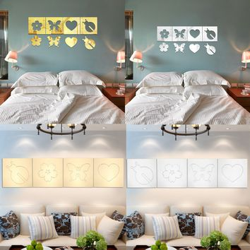 DIY 3D Removable Butterfly Mirror Decal Vinyl Art Mural Wall Stickers Living Room Home Decor