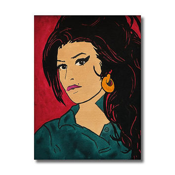 Amy Winehouse RETRO - Giclee Wall Art Canvas Poster print