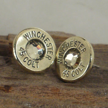 Colt 45  Jonquil  Ultra Thin Bullet Earrings by ShellsNStuff