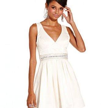 Trixxi Juniors Dress, Sleeveless Rhinestone Bow-Back A-Line - Juniors Dresses - Macy's