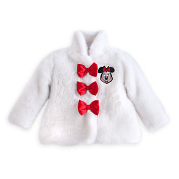 Minnie Mouse Faux Fur Coat for Baby - Holiday