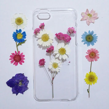 iPhone 5c Case Flower, Pressed Flower iPhone 6 Plus Case, flower iPhone 5s Case, Clear iPhone 6s Case, iPhone 6 Case Clear,clear iphone case