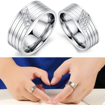 New Arrival Gift Shiny Stylish Couple Jewelry Innovative Accessory Simple Design Strong Character Ring [11676768847]