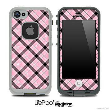 Light Pink & Black Plaid Skin for the iPhone 5 or 4/4s LifeProof Case