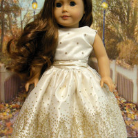 """RESERVED American girl doll clothes """"Golden Dreams"""" (18 inch doll)"""