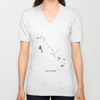 Bahamas Unisex V-Neck by monnprint