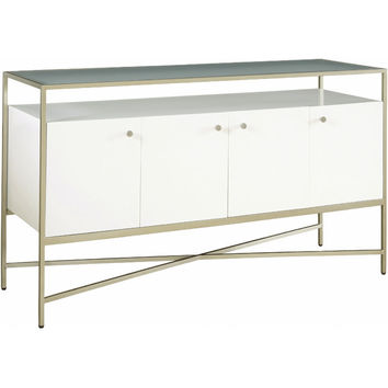 Aven Mirrored Console Table