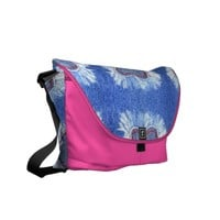 Jeans heart pattern courier bag