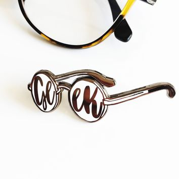 Geek Glasses Enamel Pin