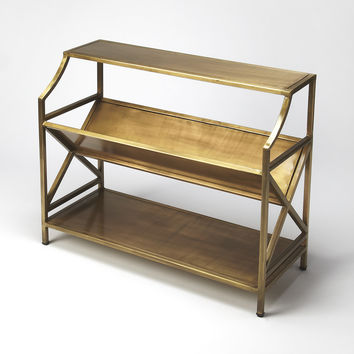 Industrial Chic Keats Antique Gold Librarie Bookcase