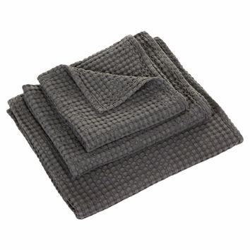 Pousada Charcoal Gris Towels by Abyss and Habidecor
