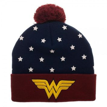 Wonder Woman Navy Red Gold Juniors Cuff