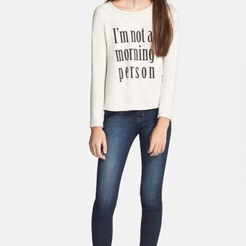 Girl's Ten Sixty Sherman 'I'm Not a Morning Person' Top,