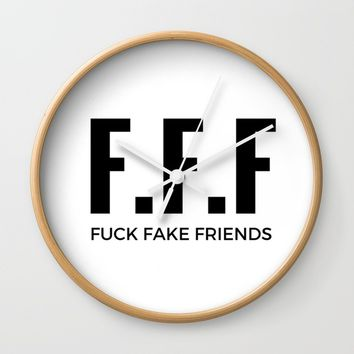 F.F.F Wall Clock by Rise_Designs