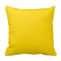 Gold Bright Yellow Decorative Throw Couch Pillows