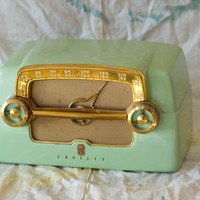 Vintage Mint Green Crosley Radio by FoxHoleConsignment on Etsy