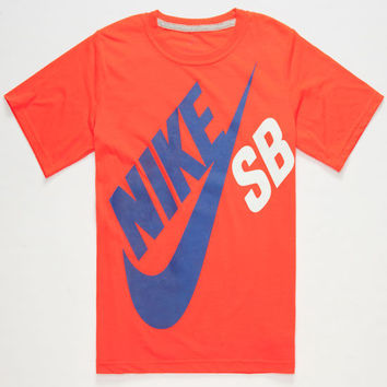 Nike Sb Big Logo Boys T-Shirt Red Flame  In Sizes