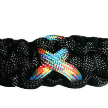 Autism Puzzle Awareness Ribbon Paracord Bracelet