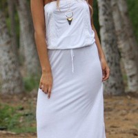 Letarte 2013 White Strapless Long Dress