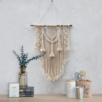 Macrame wall hanging 70S Medium size wall decor Woven wall hanging Weaving gobelin tapestry room decor Christmas gift Boho