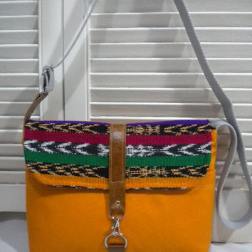 Maycas Daily Messenger Bag in Burnt Orange & by maycascollection