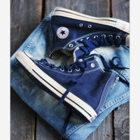 Adult Leisure  Converse All Star Sneakers High-Top Leisure shoes Navy blue