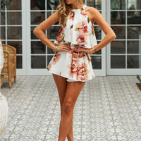 Take Me Anywhere Playsuit White