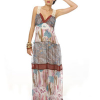 Melange Chiffon Maxi Dress