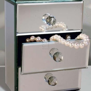 Allure by Jay Mirror Jewelry Box with 3-Drawers
